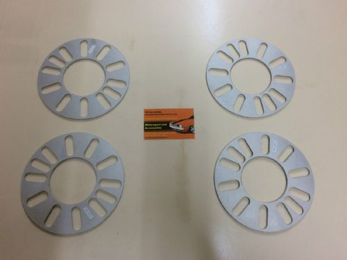 3MM WHEEL SPACERS x4 SHIMS SOLID ALLOY WHEEL SPACERS 4 AND 5 STUD